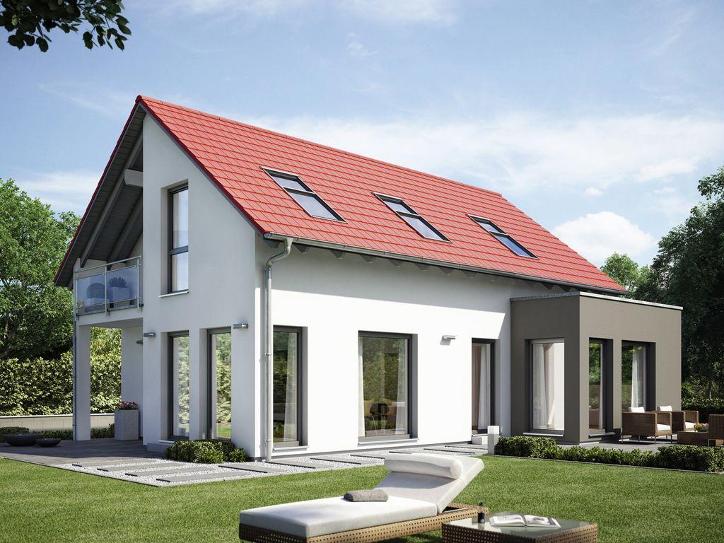 Modernes Einfamilienhaus Satteldach evolution 122 v12 modernes einfamilienhaus mit 2