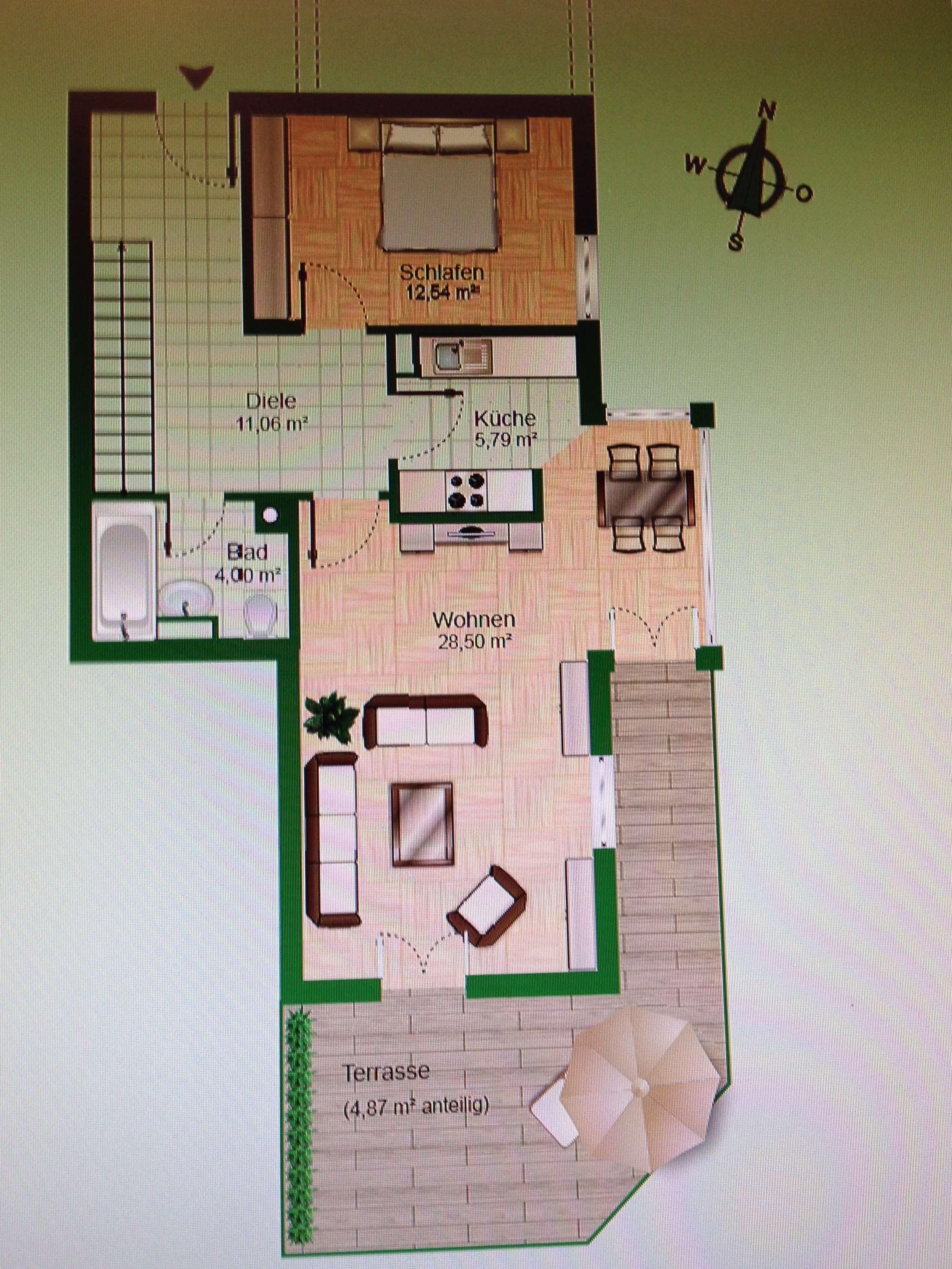 Vollständig renovierte 3,5-Zimmer-Wohnun mit Terrasse und EBK in Bad Tölz in Bad Tölz