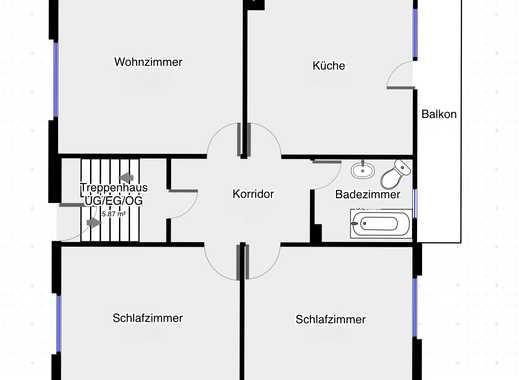 Schöne 3-Zimmer-Wohnung mit Balkon in Maidbronn