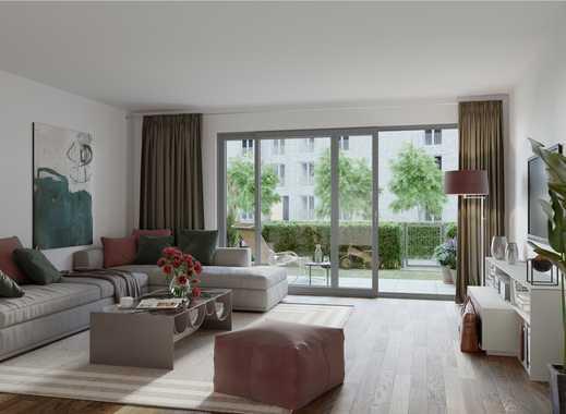 PANDION 5 FREUNDE - Gut geschnittene Gartenwohnung mit Bad en Suite und Südterrasse