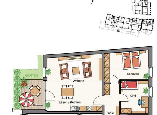 Top geschnittene 3- Zimmer- Wohnung, Neubau!