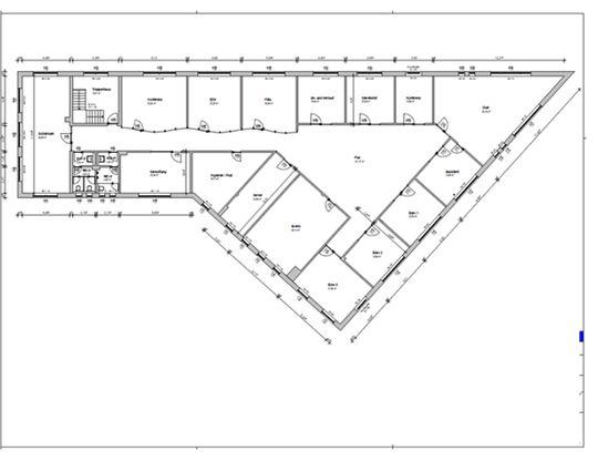 Grundriss Verwaltungsräume-Bür