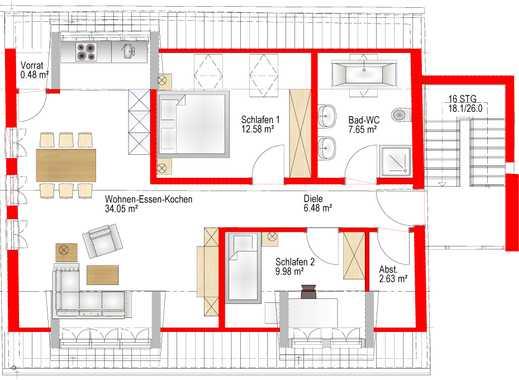 Stilvolle, neuwertige 3-Zimmer-Dachgeschosswohnung mit gehobener Innenausstattung in Wendelstein