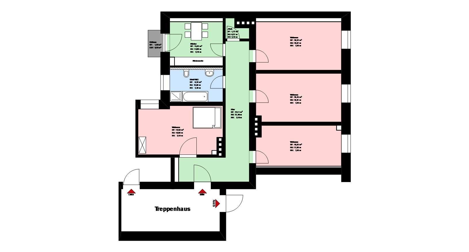 *Nähe Theresienwiese* 4-Zimmer Wohnung *möbliert* Küche mit EBK *Balkon*Keller* in Sendling (München)