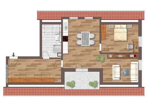 NEUBAU I 2-/3-Zimmer-Dachgeschoss-Wohnung mit großer Loggia I unverbauter Blick in den Aurachgrund