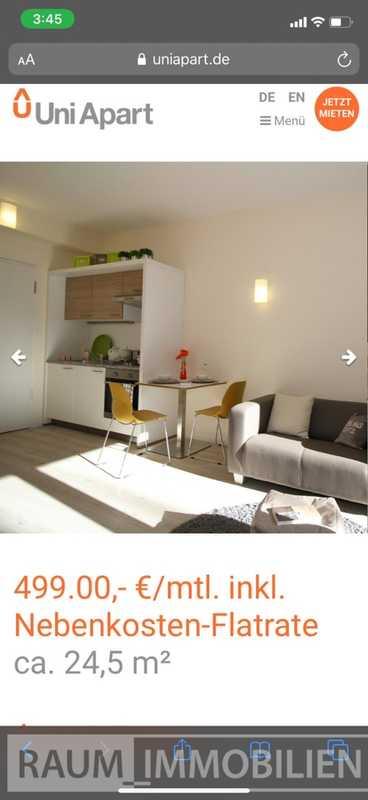 Wohnung im Uni Apart Neu-Ulm nur für Studenten/Praktikanten/Azubi - sofort beziehbar in Neu-Ulm (Neu-Ulm)
