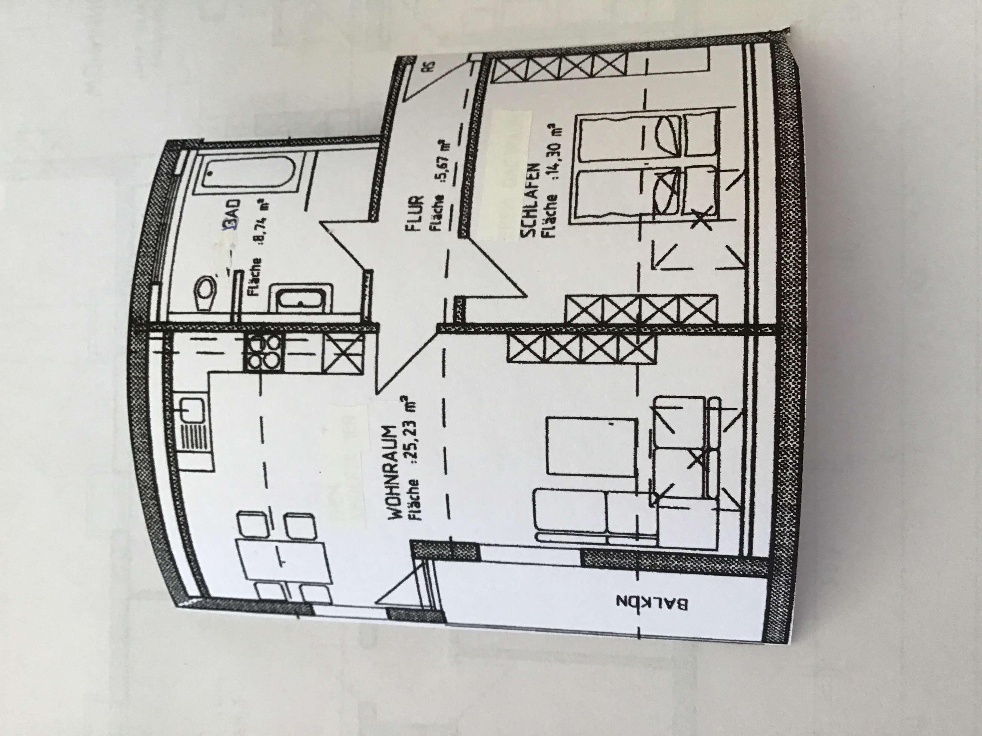 Vollständig renovierte 2-Zimmer-DG-Wohnung mit Balkon und Einbauküche in Memmingen in