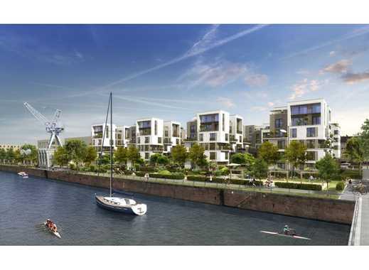 Schiff ahoi! Wohnen und leben am Hafen auf ca. 85 m² mit Tageslichtbad und 2 schönen Loggien