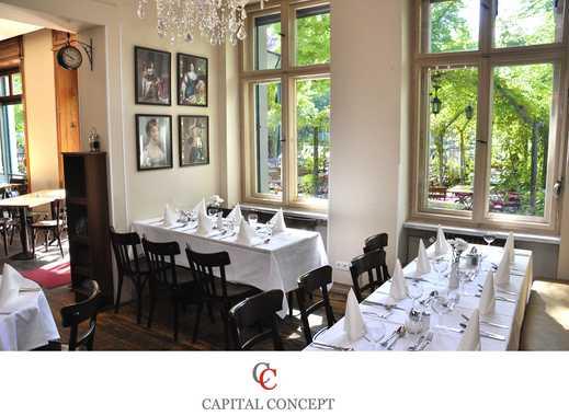 Attraktive Gastronomie mit Biergarten in Touristenviertel