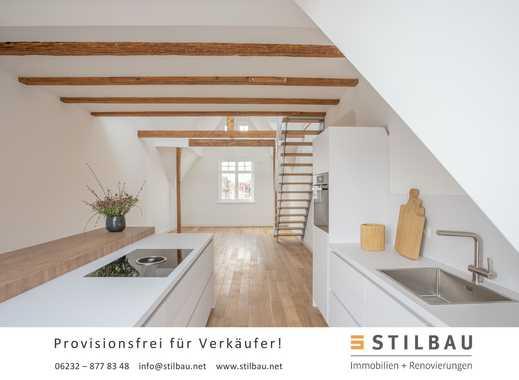 STILBAU bietet an: Zentrumsnahe hochwertig sanierte Dachgeschoss-/Maisonettewohnung