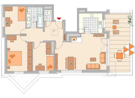 "4-Zimmer-Staffelgeschoss-Wohnung in der ""Goldenen Wetterau"", Friedberg"