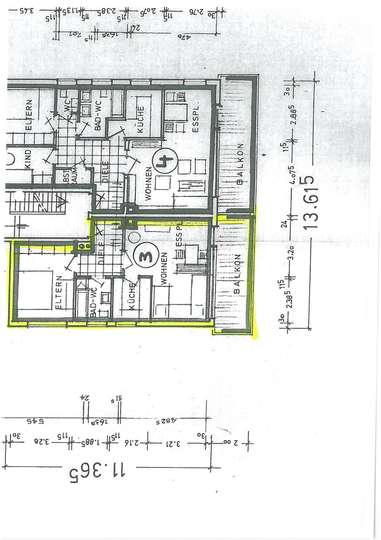 Neu renovierte 2 Zi.-Wohnung mit großem Balkon, Nettorendite ca. 4,3% PROVISIONSFREI !! leerstehend