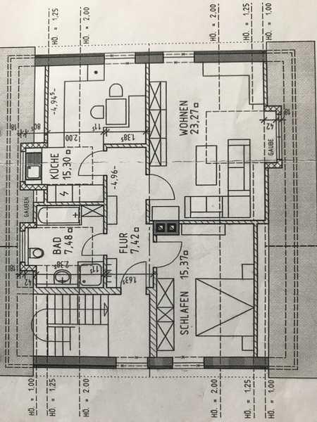 Modernisierte 2,5-Zimmer-Dachgeschosswohnung mit EBK in Stammham in Stammham (Eichstätt)