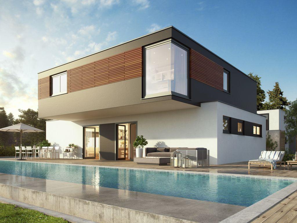 au ergew hnlich und modern unser innovatives hauskonzept flachdach modernart 167. Black Bedroom Furniture Sets. Home Design Ideas