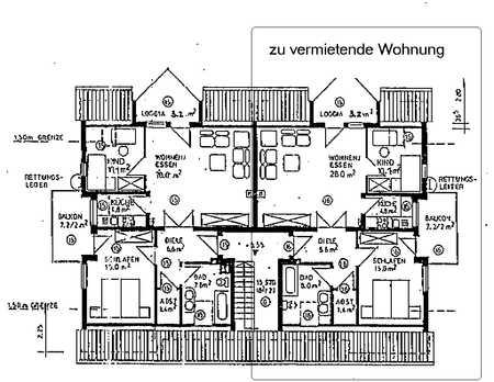 Günstige 3-Zimmer-DG-Wohnung mit Balkon und Einbauküche in Pfofeld in Pfofeld