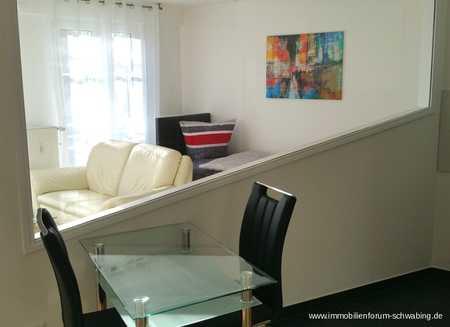 Helle möblierte 1,5 Zimmer Wohnung in ansprechendem Architektenhaus - an Einzelperson zu vermieten in Berg am Laim (München)