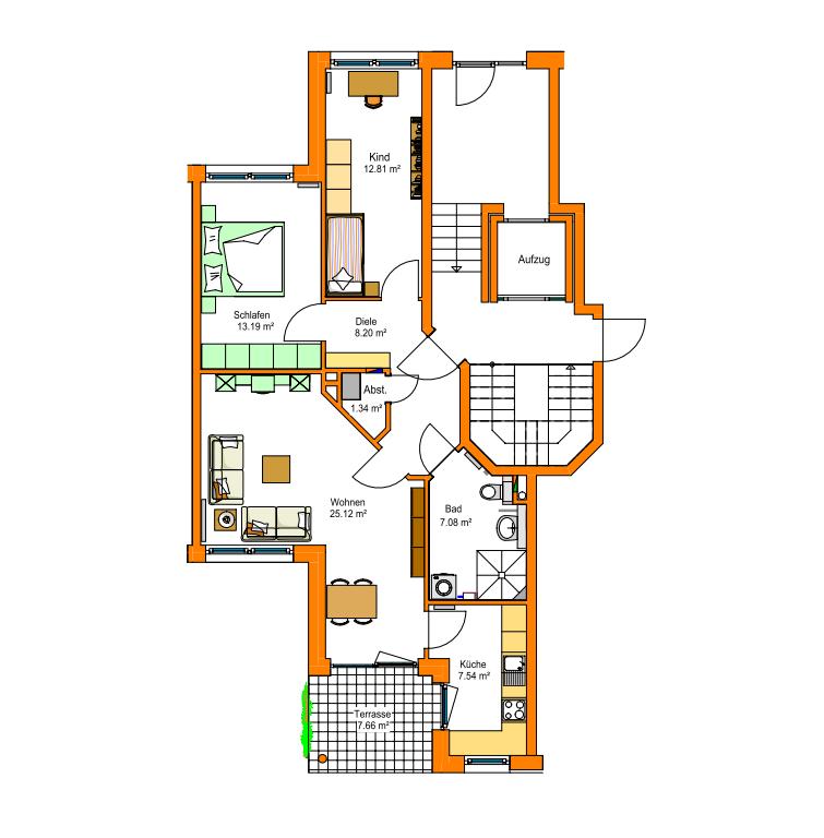 Neubau-Garten-Wohnung für Paar mit Kind (3 Zimmer) in Uninähe