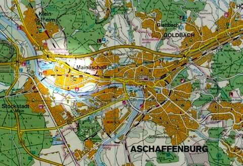 Sonnige 112 qm Maisonette-Wohnung mit Balkon in Aschaffenburg-Mainaschaff