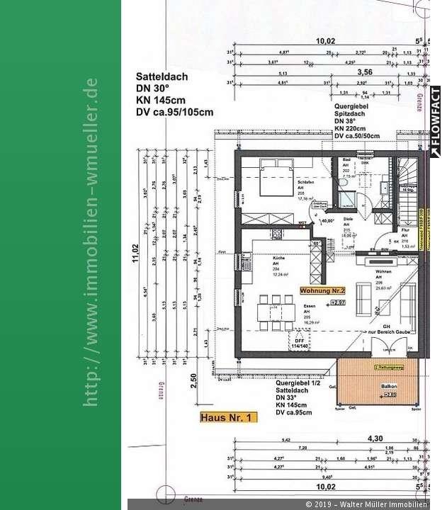 Neubau 2-Zi.DG-Whg. ca. 86 m²Wfl. mit Balkon u.Stellplatz in Ingolstadt zur Miete!