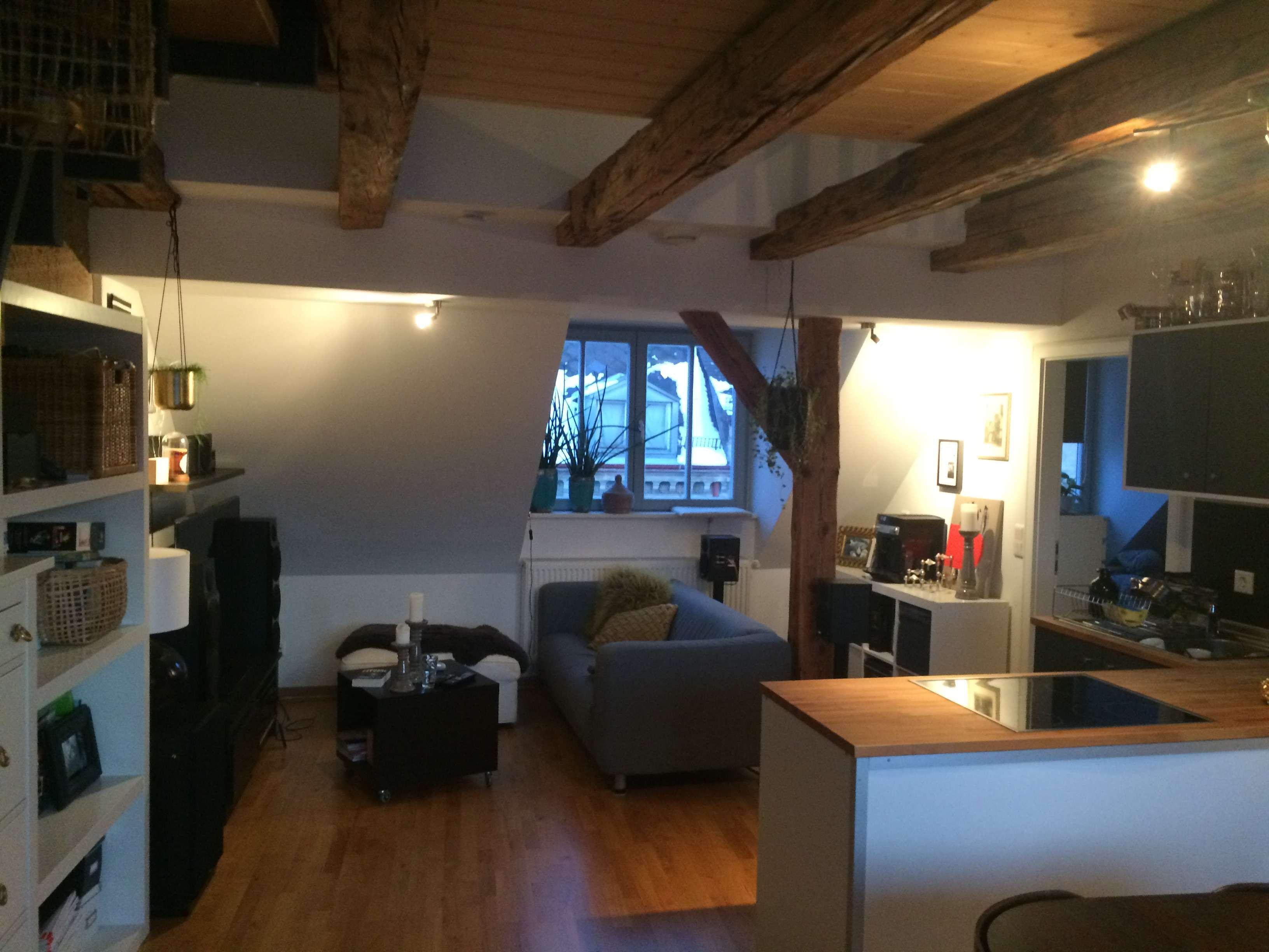 Individuelle  2,5-Zimmer-Maisonette-Wohnung mit Loggia und Einbauküche in Fürth in Altstadt, Innenstadt (Fürth)