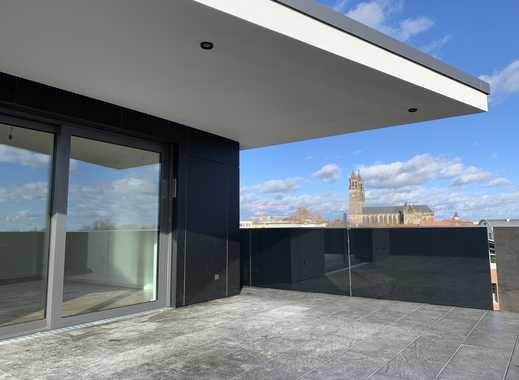 Luxus-4-Raum-Penthouse mit Aufzug direkt in die Wohnung - Elbblick-Domblick - Im Elbbahnhof