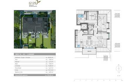 weitläufige 3 Zimmer Wohnung mit Südbalkon ab 16.07.2020 - Neubau Erstbezug in Hadern (München)