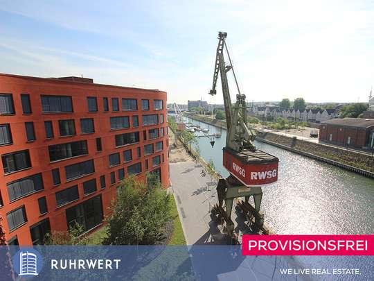 von Blick übers Hafenbecken: Stilvolle Büroflächen am Innenhafen - Erstbezug !!