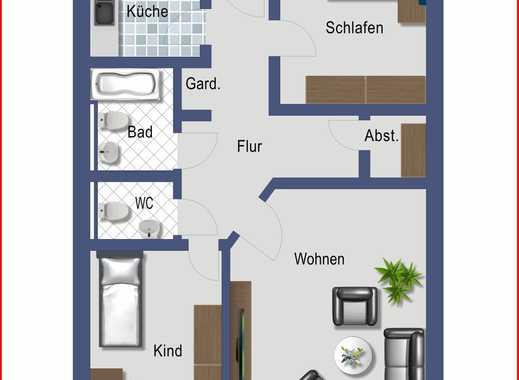 Schöne 3 ZKB Wohnung - Stadtmitte in Alzey
