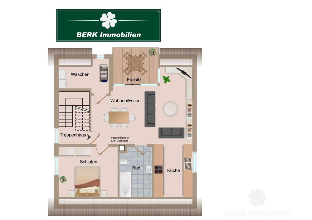 BERK Immobilien - Erstbezug nach Sanierung - Maisonettewohnung mit Freisitz und schöner Aussicht