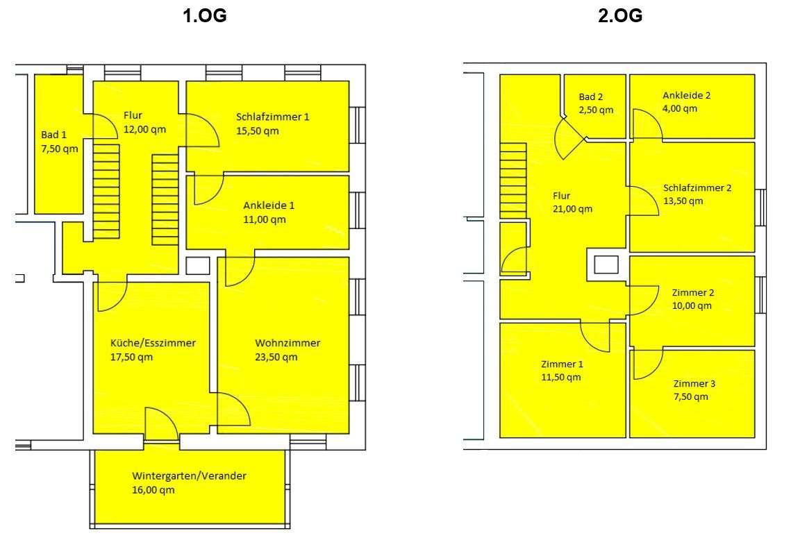 großzügige 6-Zimmer Wohnung auf 2 Etagen- 165qm in
