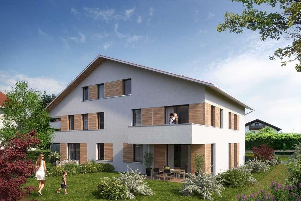 Neubau Erdgeschosswohnung mit Einbauküche & Gartenanteil im wunderschönen Pfronten