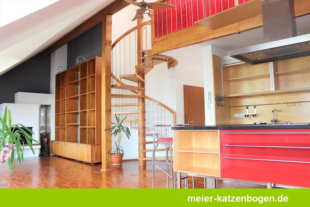 Exklusive Maisonettewohnung mit Dachterrasse und Balkon