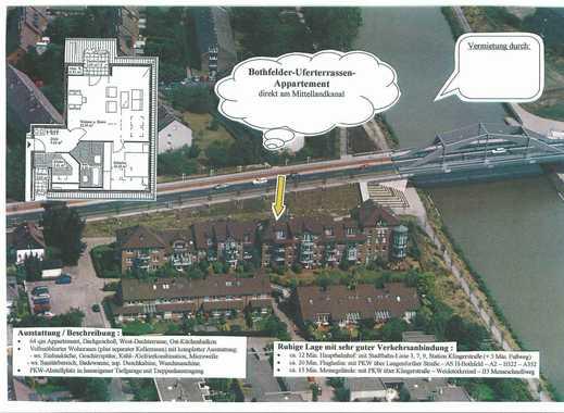 Uferterassen-Apartment mit Wasserblick am Mittellandkanal