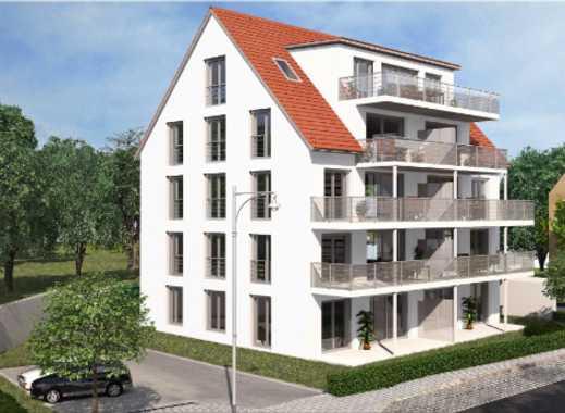 Ab Sofort Erstbezug, 3-Zimmer-Wohnung in Herzogenaurach als Erstbezug mit EBK/Tiefgarage/Balkon