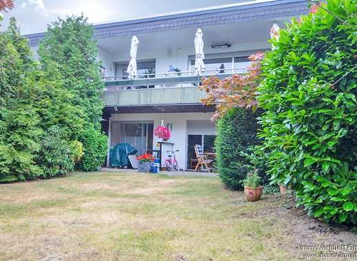Sonnige Garten-Erdgeschosswohnung mit 3-Zimmer, offenem Kamin, Sauna in schöner Lage Hösel