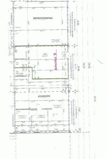Grundriss Lokal B 54,64 qm