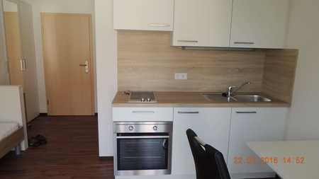 Moderne, möblierte 1-Zimmer-Wohnung mit Balkon, Tiefgarage, Einbauküche in Ingolstadt in Nordost (Ingolstadt)