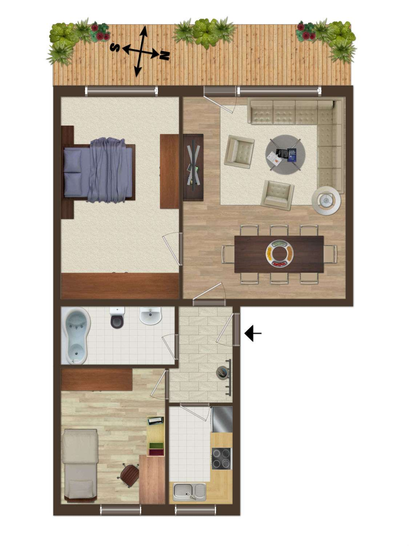 Schöne drei Zimmer Wohnung mit SW Balkon in Gilching (LandKreis Starnberg) in Gilching (Starnberg)
