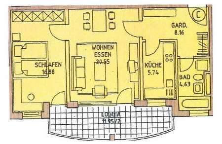 Gepflegte 2-Zimmer-Wohnung mit Balkon und Einbauküche in Landshut in West (Landshut)