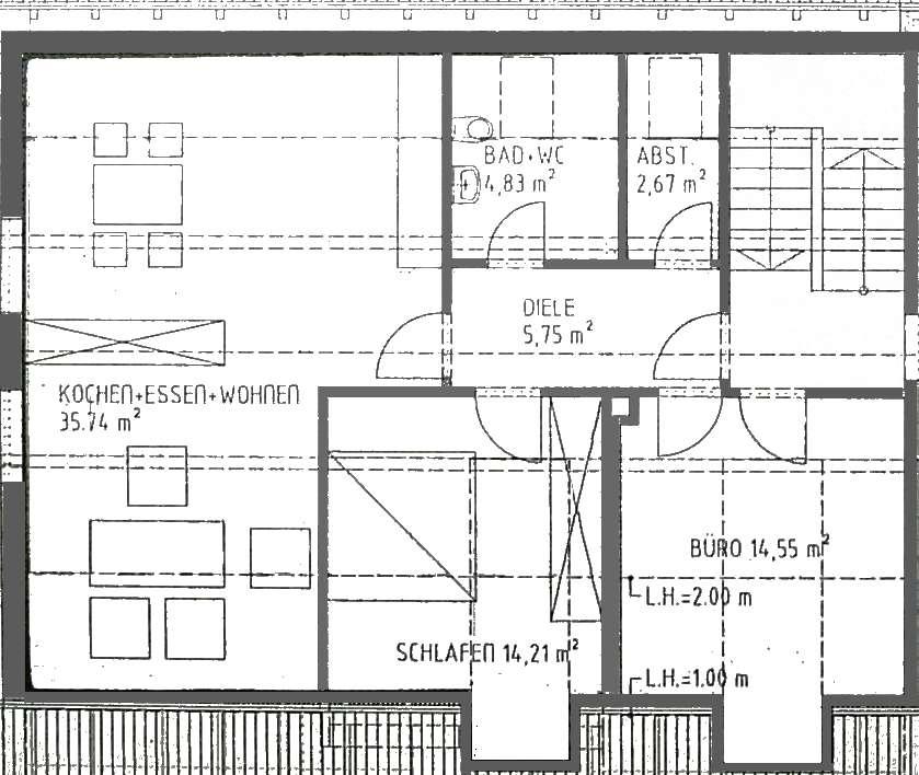 3-Zimmer-Dachgeschosswohnung in Kösching