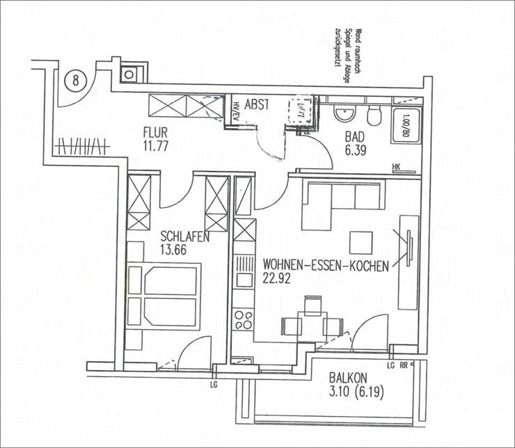 Schöne, ruhige zwei Zimmer Wohnung in Augsburg, Pfersee, Augsburger Str