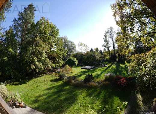 M-Taufkirchen: 3.380 m² romantisches Süd-Grundstück mit Landhaus + großem Baurecht! Nachlassverkauf!