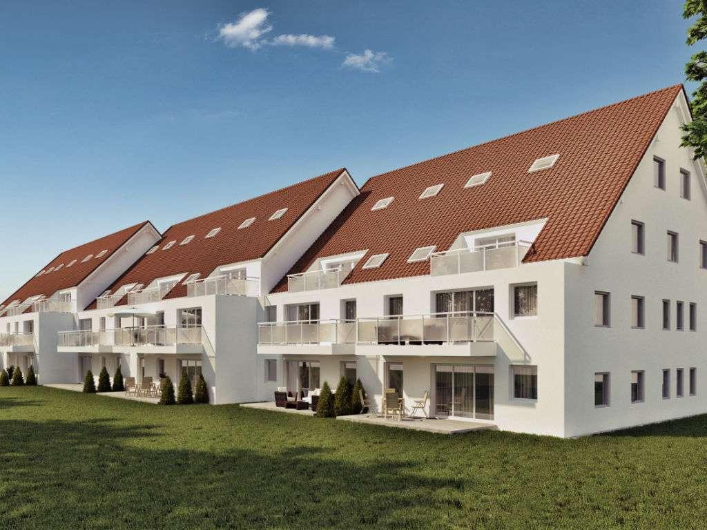 3 Zi Whg mit 13,3m² Terrasse im 1.OG mit gr.Hobbyraum 18m² inkl WM+STROM Anschluss+Stellplatz in Wörth an der Isar