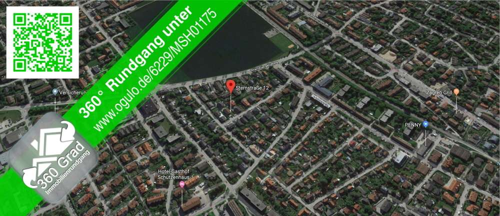 1,5-Zi-Wohnung im EG  mit Terrasse, Einbauküchenzeile gegen Ablöse und KFZ-Stellplatz in Gilching (Starnberg)