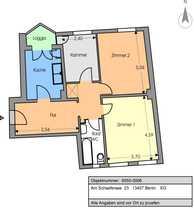 Bild 2,5-Zimmer-Altbauwohnung (72m²) mit Blick auf den Schäfersee zur Untermiete für max. 12 Monate