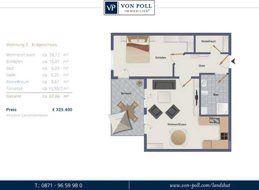 Meine Oase! 2 Zimmer Neubauwohnung im Erdgeschoss mit SW-Terrasse und Gartenanteil