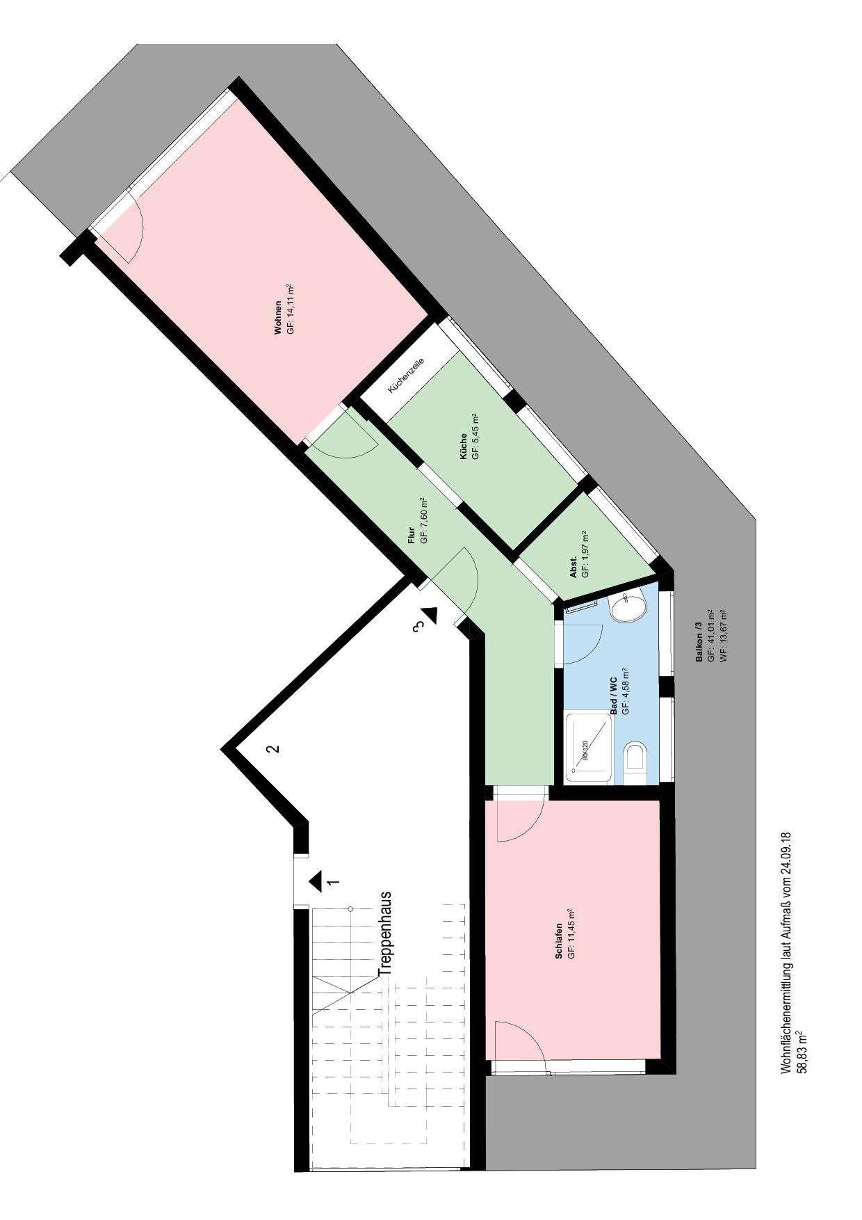 *SOLLN*2 Zimmer-Wohnung*möbliert*BALKON*EBK* PARKETT* in Solln (München)