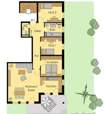 Exklusive, neuwertige 4-Zimmer-Wohnung mit Terrasse und Einbauküche in Landshut in Peter u. Paul (Landshut)