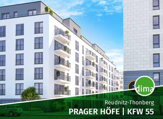 ROHBAU | MODERNE CITYWOHNUNG | Prager Höfe | KfW 55 | Balkon | TG | Praktischer Grundriss