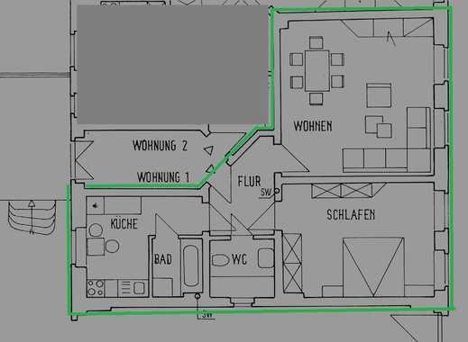 Schöne, geräumige zwei Zimmer Wohnung im Zentrum von Merseburg